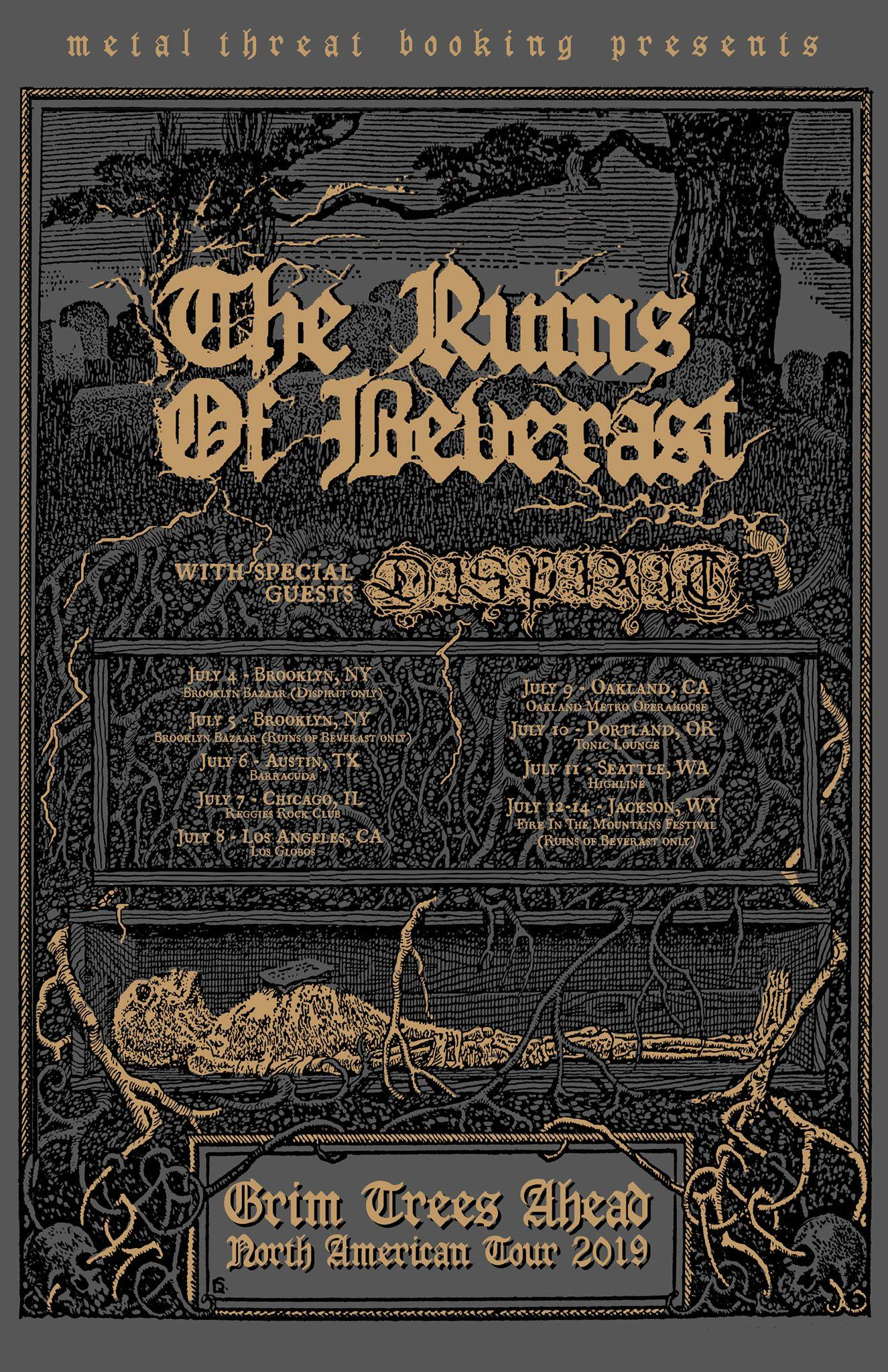 The Ruins Of Beverast with Dispirit and Yellow Eyes at Barracuda