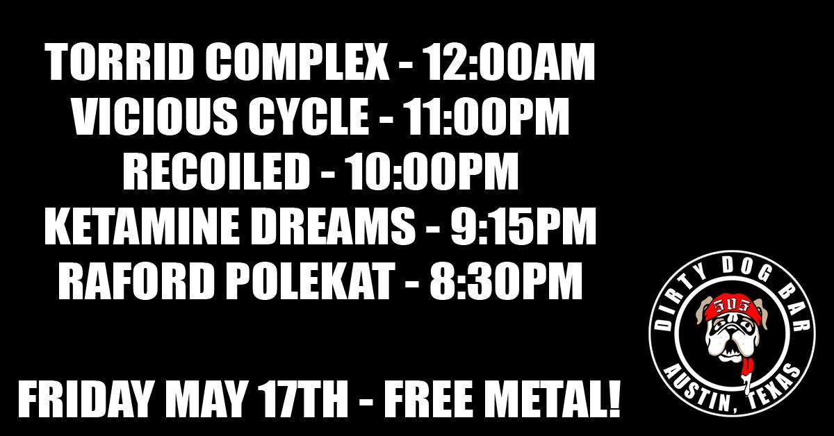 Torrid Complex,Vicious Cycle,Recoiled,Ketamine Dreams and more