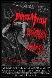 Immolation, Blood Incantation, Flesh Hoarder and more