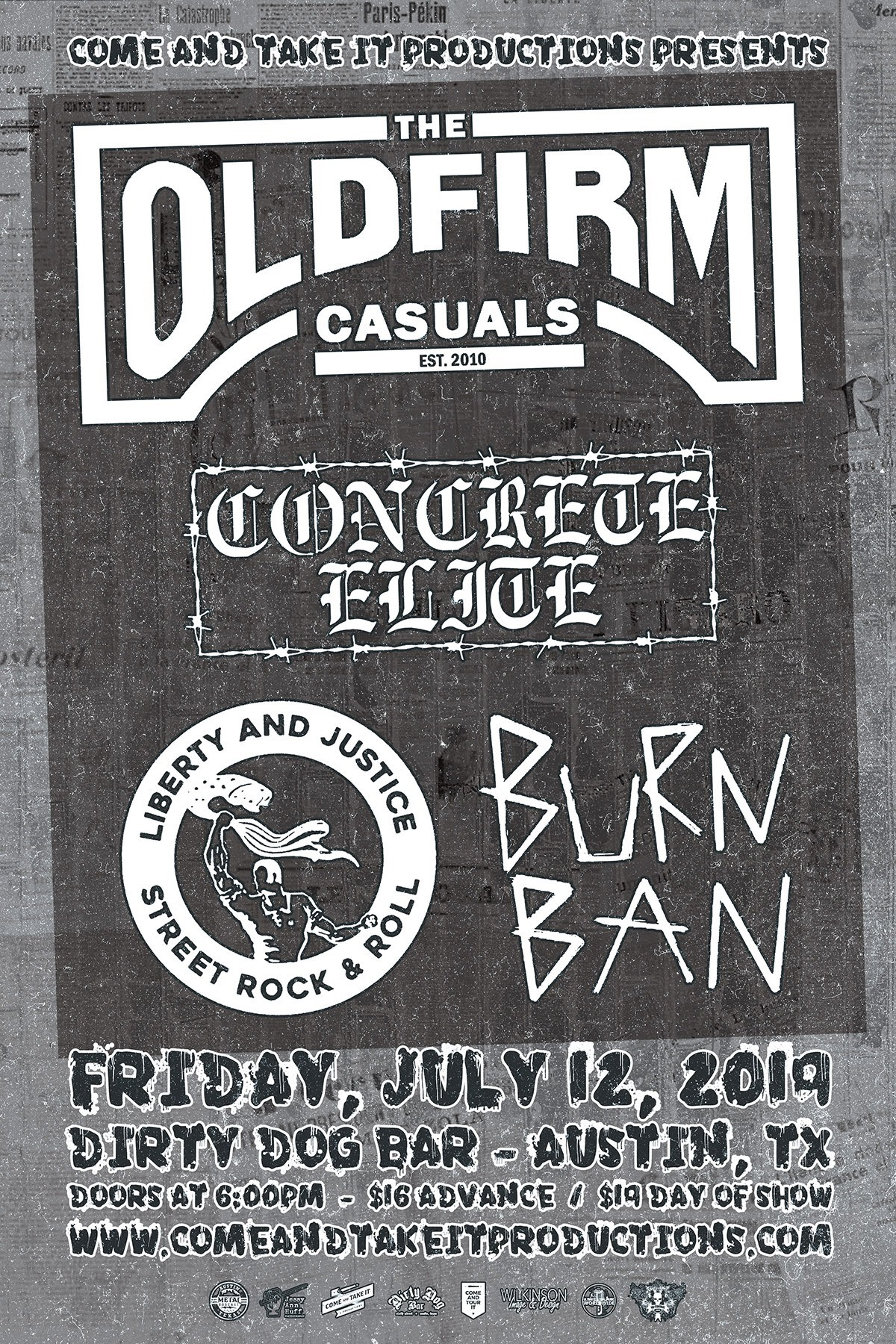 The Old Firm Casuals, Concrete Elite and more in Austin!