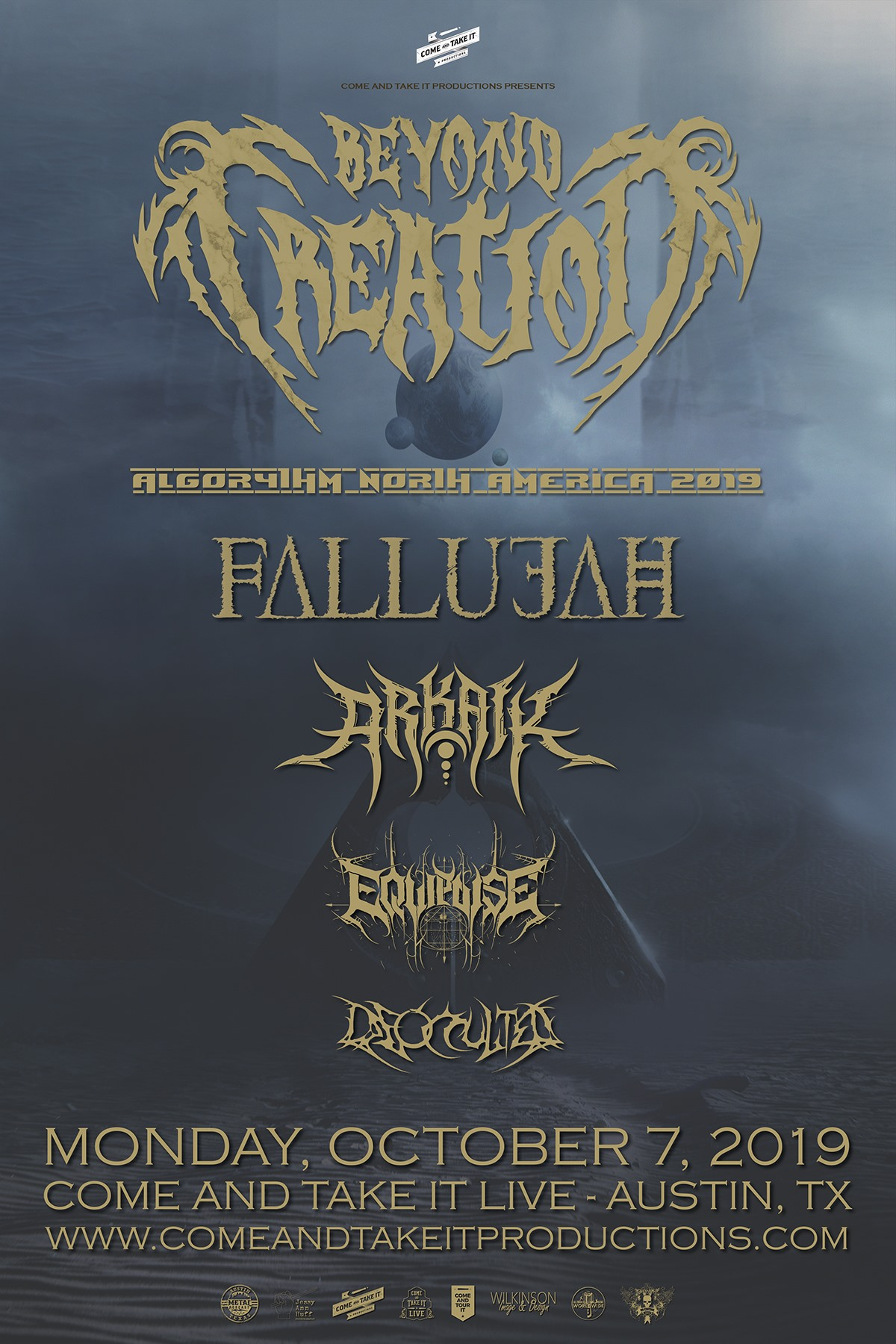 Beyond Creation, Fallujah, Arkaik, Equipoise and more