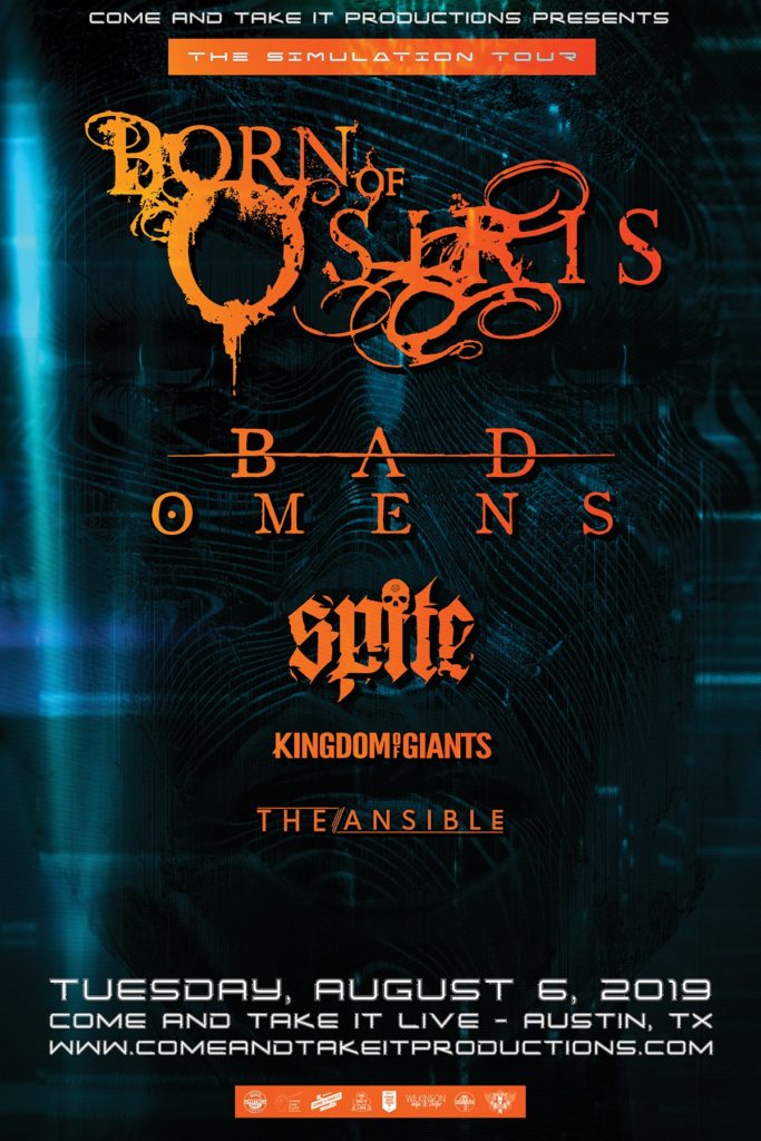 Born of Osiris, Bad Omens, Spite and more