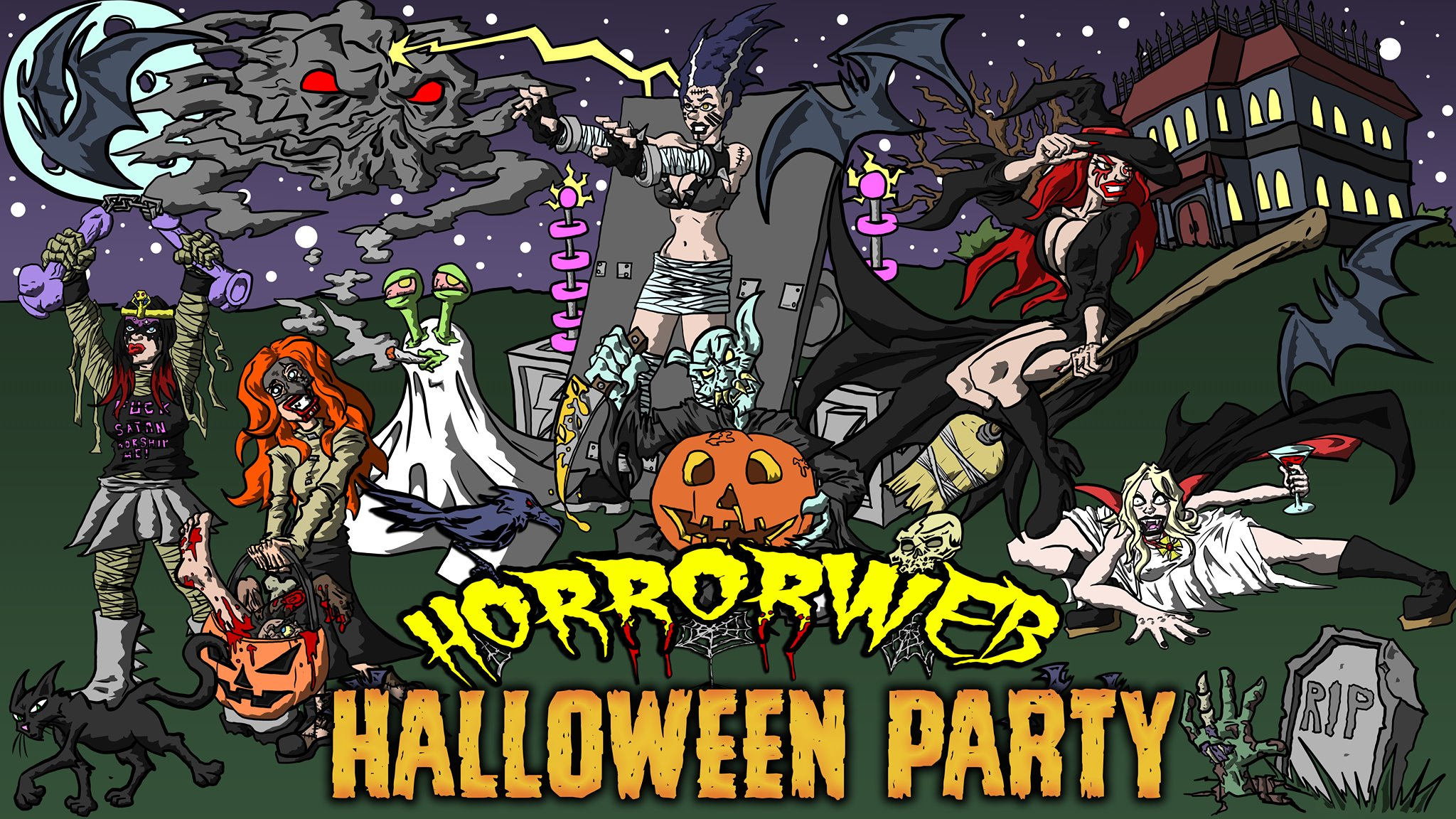 Horrorwebs Halloween Party The Darker Side Of Austin