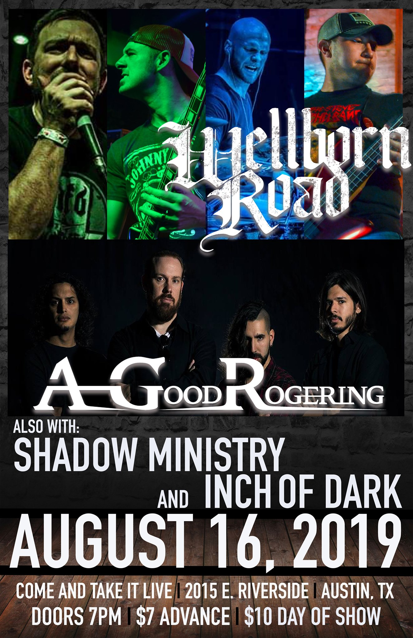 Image of Wellborn Road w/ A Good Rogering, Shadow Ministry & Inch of Dark