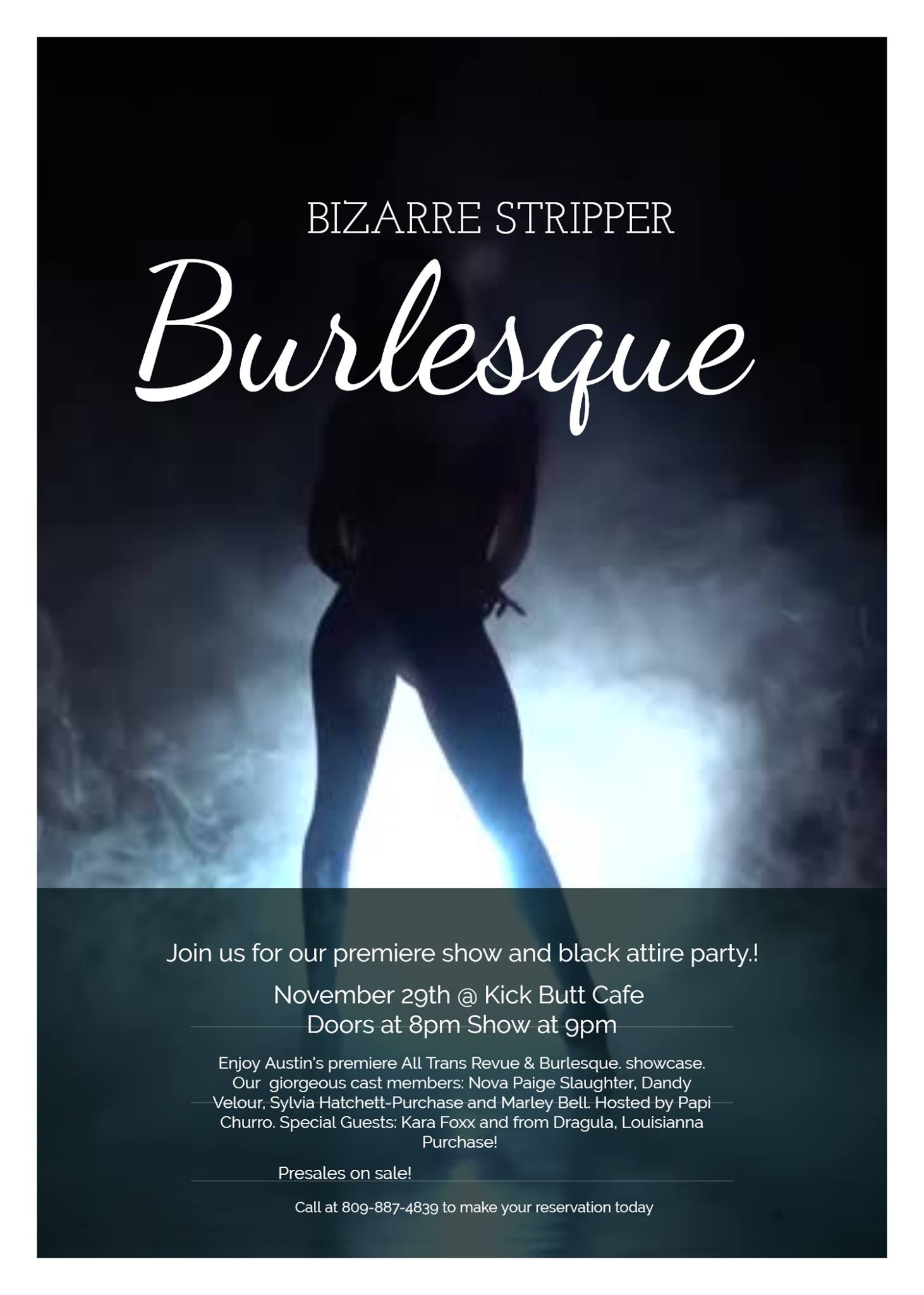 Bizarre Strippers Burlesque presents Black Attire Party