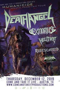 Death Angel, Exmortus, Hellfire and more