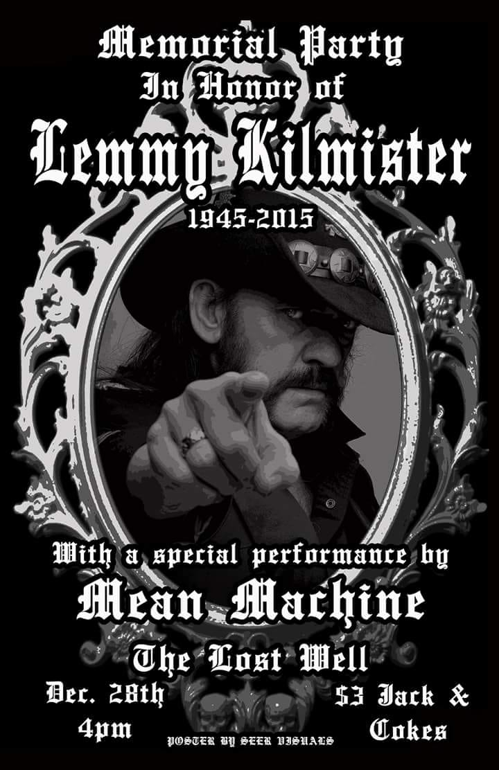 All Hail The King: Lemmy Memorial Party with Mean Machine
