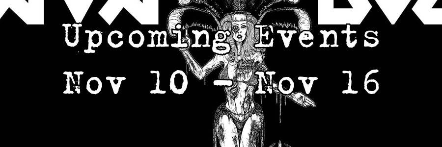 Upcoming Events Nov 10 - Nov 16