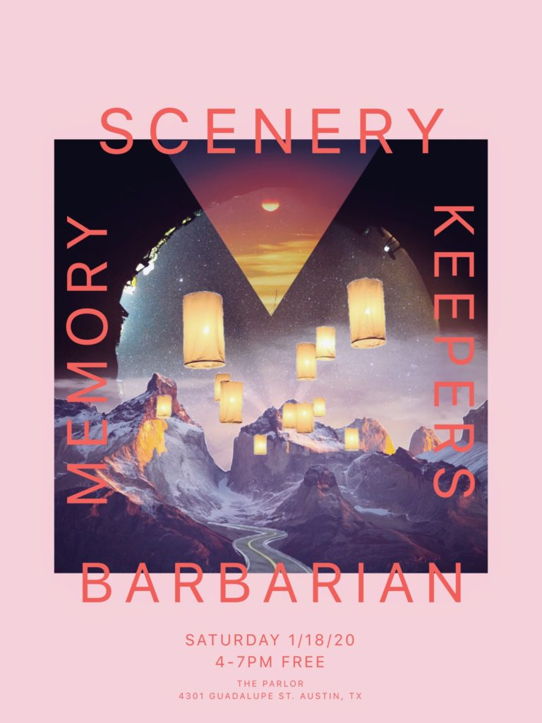 Scenery, Memory Keepers, Barbarian free synth matinee