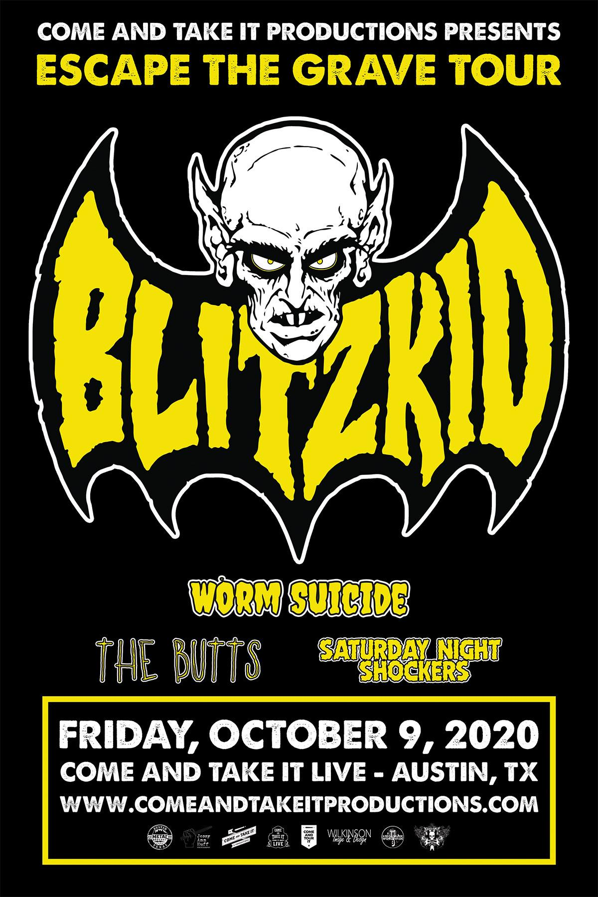 Blitzkid, Worm Suicide, The Butts and more