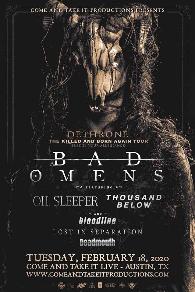 Bad Omens, Oh Sleeper, Thousand Below and more