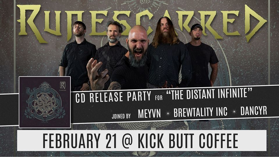 Runescarred CD Release Party w/ Meyvn, Brewtality Inc and Dancyr