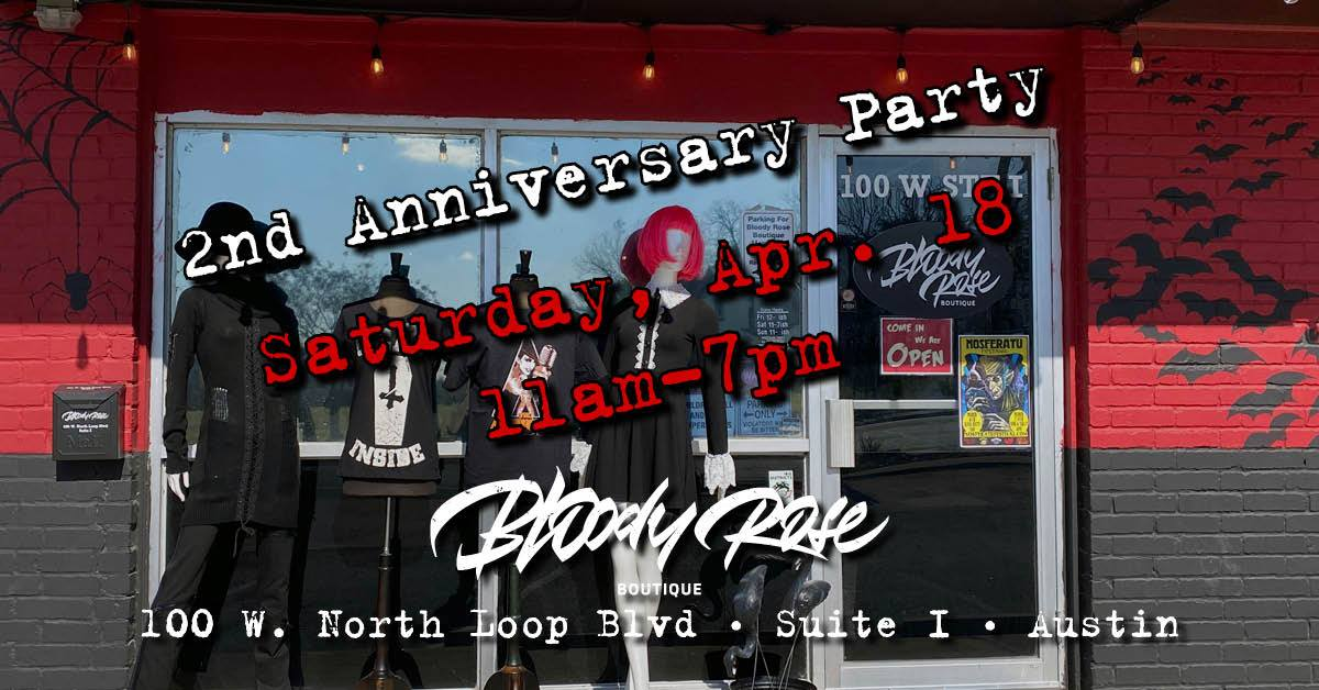 Bloody Rose Boutique 2nd Anniversary Party