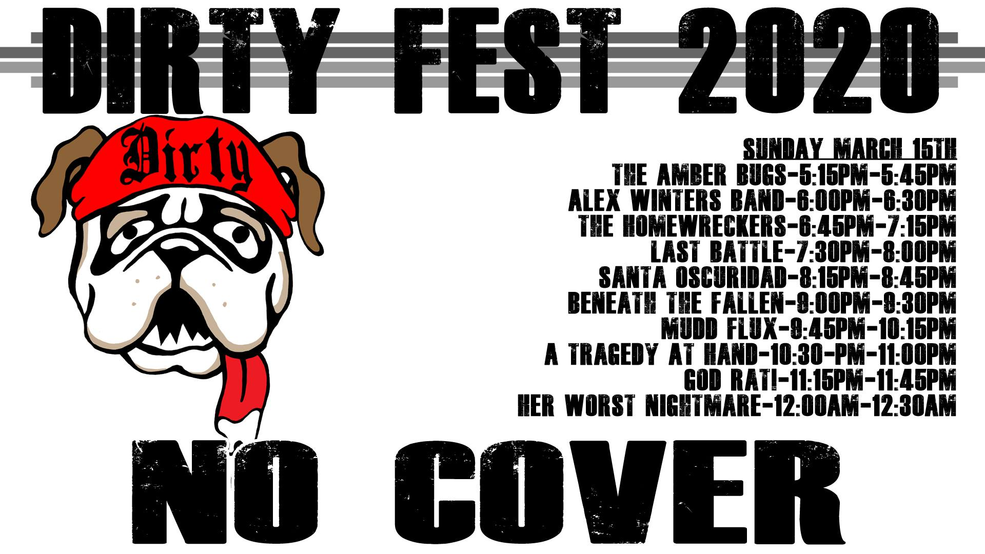 Dirty Fest 2020 - Sunday