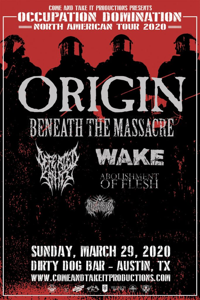 Origin, Beneath the Massacre, Defeated Sanity & more