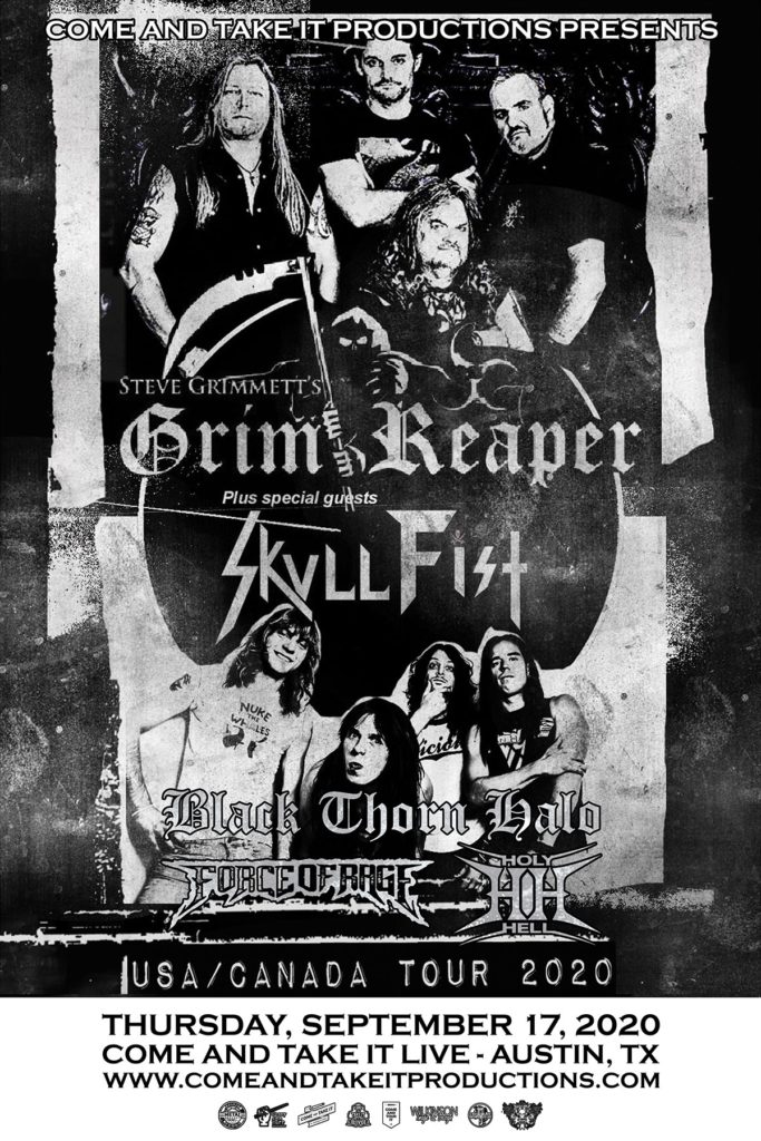 Steve Grimmett's Grim Reaper, Skull Fist and more