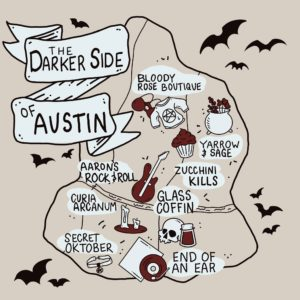Darker Side of Austin map by Naked Eye Studio